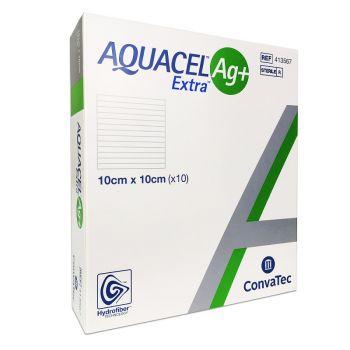 Аквасель Ag+ - Экстра повязка гидрофайбер с серебром и усиленным волокном