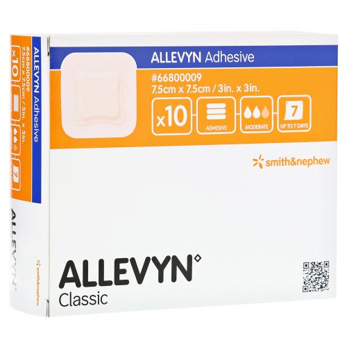 Allevyn Adhesive (Аллевин Адгезив) - Самоклеящаяся гидроячеистая полиуретановая повязка  из категории Губчатые