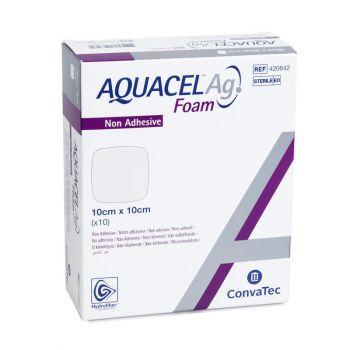 Аквасель Аг Фоум (Aquacel Ag Foam Non Adhesive) - Повязка Гидрофайбер® с серебром, на пенной основе, неадгезивная