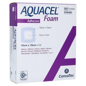 Аквасель Аг Фоум (Aquacel Ag Foam Adhesive) - Повязка Гидрофайбер® с серебром, на пенной основе, с силиконовым адгезивом