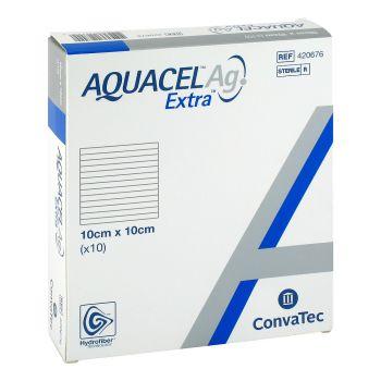 Аквасель Экстра Аг (Aquacel Extra Ag) - Экстра повязка Гидрофайбер® с серебром и усиленным волокном