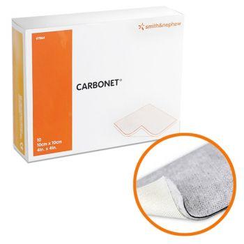 CARBONET (Карбонет) - Абсорбирующая дезодорирующая неадгезивная повязка с активированным углем, 10 см х 20 см