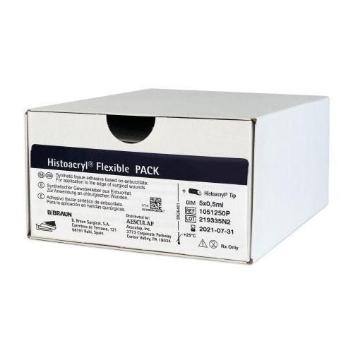 Гистоакрил Флексибл Пэк (Histoacryl® Flexible Pack) - Медицинский тканевой синтетический клей с аппликатором, синий, 0,5 мл из категории Шовные материалы