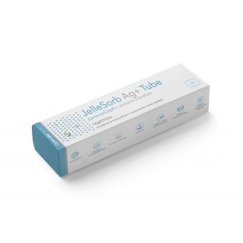 ДжеллеСорб (JelleSorb Ag+) - Стерильный аморфный антимикробный гидрогель с ионами серебра в тубе, 15 г