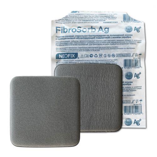 Neofix FibroSorb Ag (Неофикс ФиброСорб Аг) - Абсорбирующая губчатая повязка с ионами серебра, 10 см х 10 см  из категории С серебром